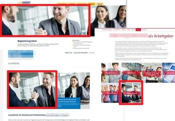 Dieselben Mitarbeiter auf verschiedenen Karriere-Websites - irreführende Werbung im Personalmarketing, so das OLG Hamm