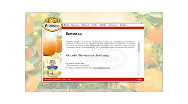 Jobs-Seite bei Valensina mit gut versteckten Stellenangeboten