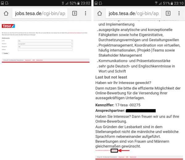 Mobil optimiertes Karriere-Portal - Fehlanzeige