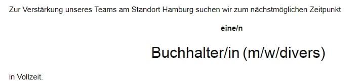 """Das dritte Geschlecht in Stellenanzeigen, z.  B. als """"divers"""""""