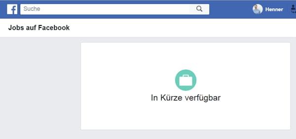 Facebook Jobs - deutsche Nutzer schauen noch in die Röhre