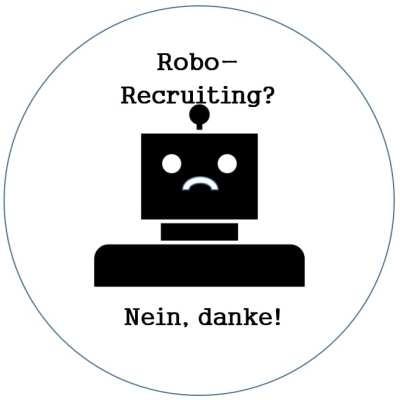 Robo-Recruiting - nein danke - Robot by jungsang from the Noun Project
