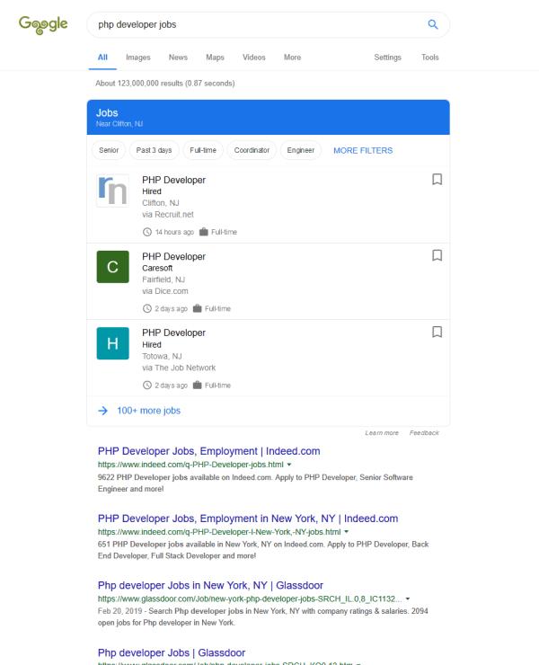 Google for Jobs: direkt in Google nach Jobs suchen - Screenshot: google.com