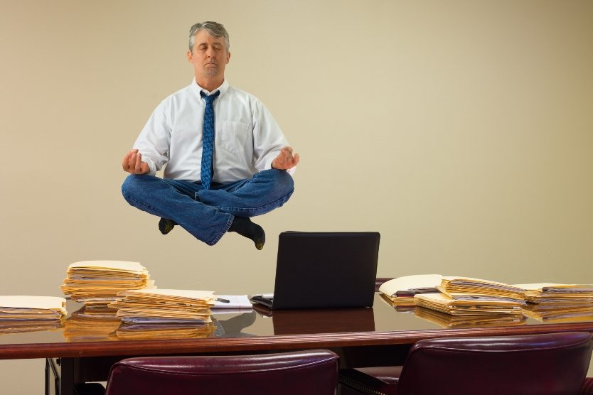 Practicing yoga and organizing your paperwork have a lot in common.