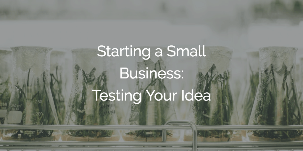 Starting a Small Business - Testing Your Idea