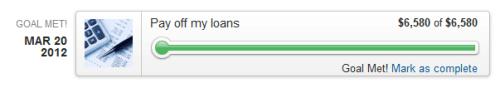 mint.com goals student loan