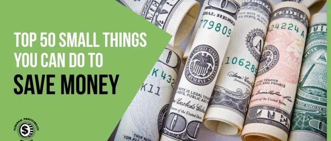 Top 50 Ways to Save Money- PersonalProfitability.com