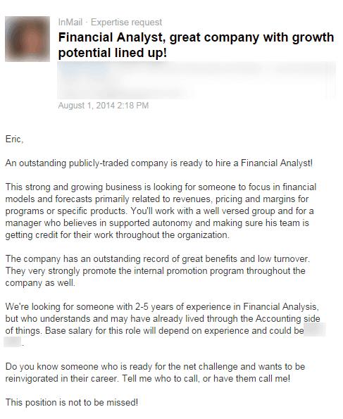 LinkedIn Recruiter Message