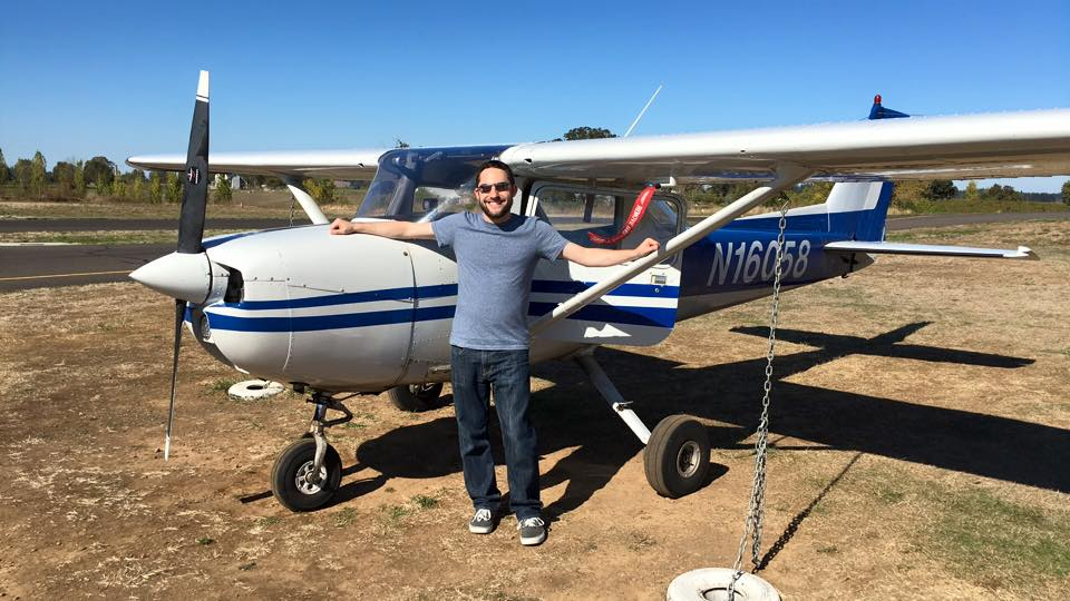 Eric First Solo Flight Plane