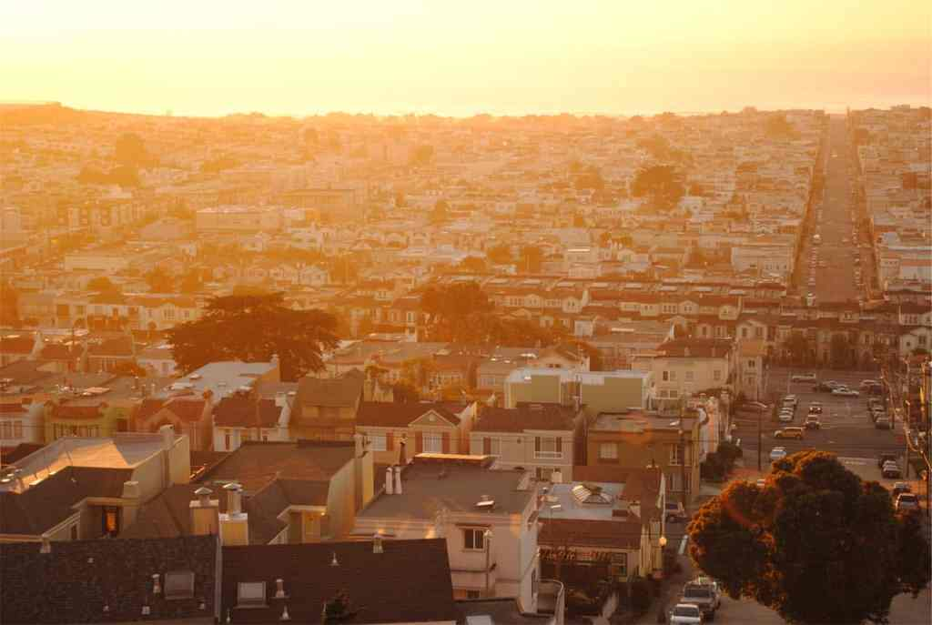City Houses at Sunset at PersonalProfitability.com