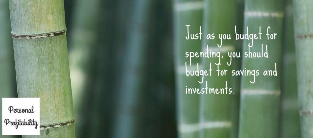 Budgeting Savings Investments PersonalProfitability.com