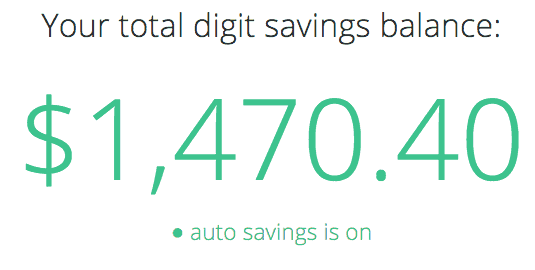 Digit Savings Balance PersonalProfitability.com