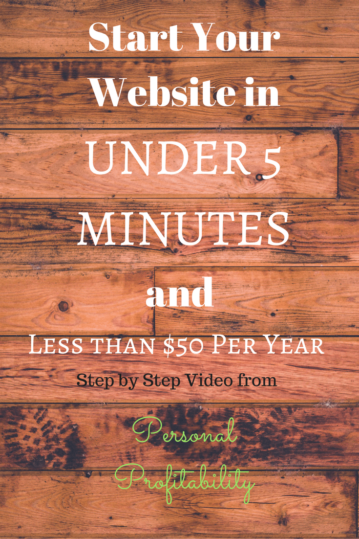 Start Your Website in Under 5 Minutes! - PersonalProfitability.com