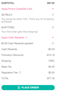 Boxed Checkout with Discounts and Coupons