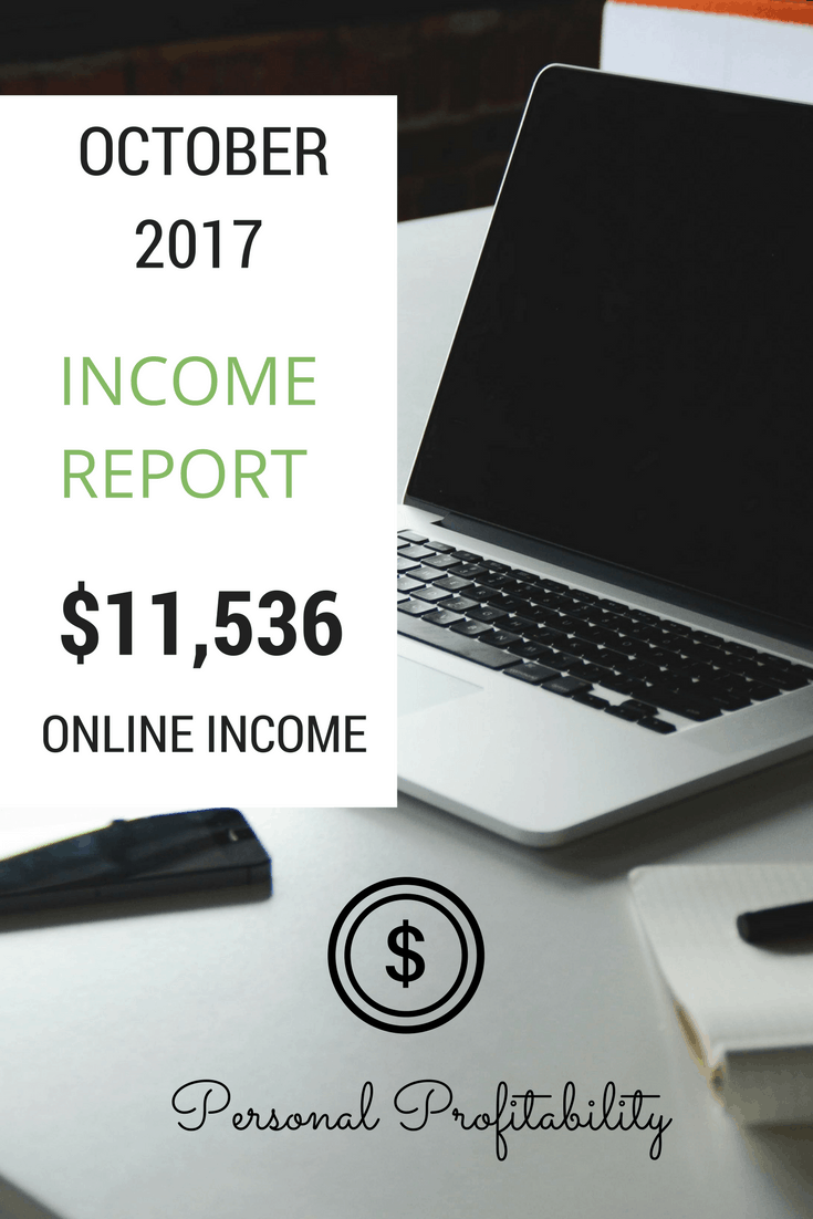 Get the gritty details on how I brought in over $11,000 online in October 2017, and get insights into what I'm doing to grow it next year for bigger profit!