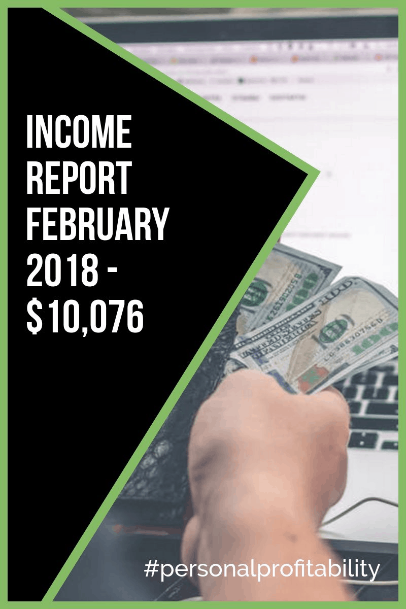 Here's how my income broke down in February, and a sneak peek of new projects I'm working on to keep the profitability train driving forward.