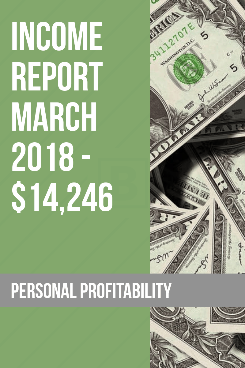 Welcome back for this month's income report. March was a great month, and I'm excited to look back at how everything came together to see where I can draw out lessons to help us all find bigger and better success in our online and offline finances. Let's dive in!