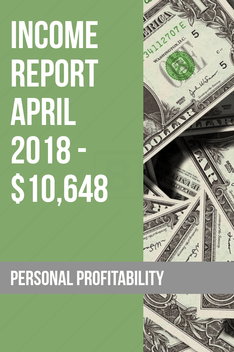 It's time for the April 2018 Personal Profitability income report and side hustle update. I have good news on the freelancing side of the business and expect good things soon in three app projects I'm working on. See the gritty details in the April 2018 income report.
