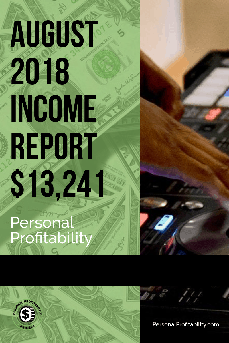 August 2018 Online and Side Hustle Income Report
