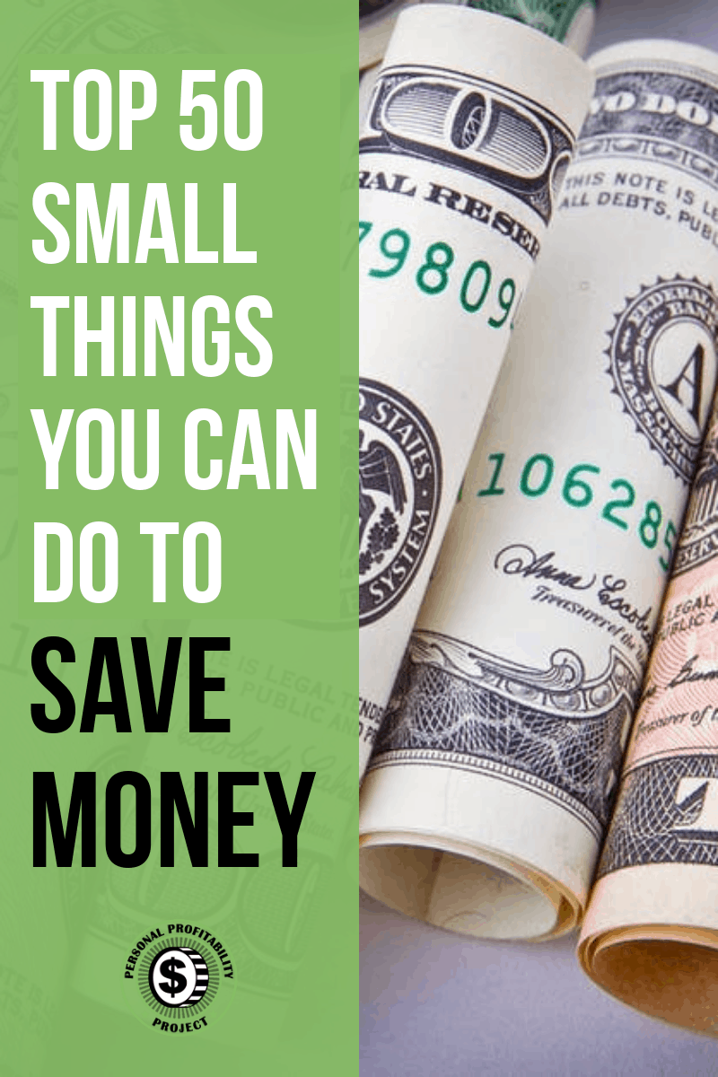 Here are some easy ways to save money, because frugal living starts with the small things! These tips will help keep some extra cash in your pocket. #savemoney #frugalliving