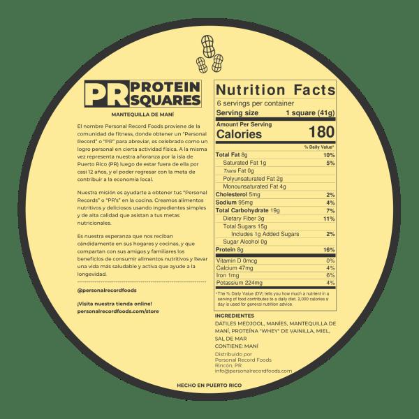 PR Protein Squares - Peanut Nutrition Facts