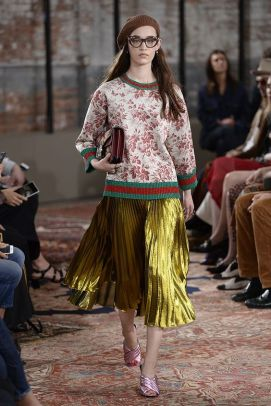 NEW YORK, NY - JUNE 04: A model walks at Gucci Cruise 2016 Runway at Dia Art Foundation on June 4, 2015 in New York City. (Photo by Fernanda Calfat/WireImage)
