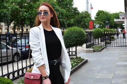 Classy white blazer jacket