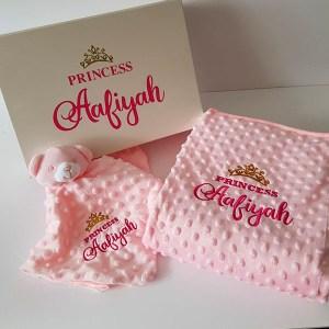 personalised blanket set