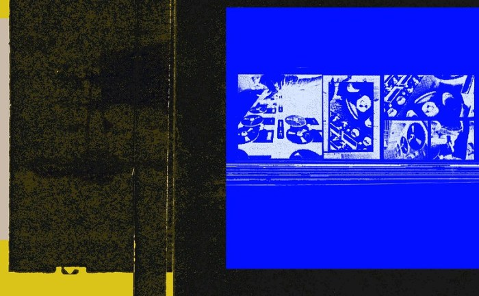 Collage image from OMC TBC. Cover art sketches for OMC cassette release.