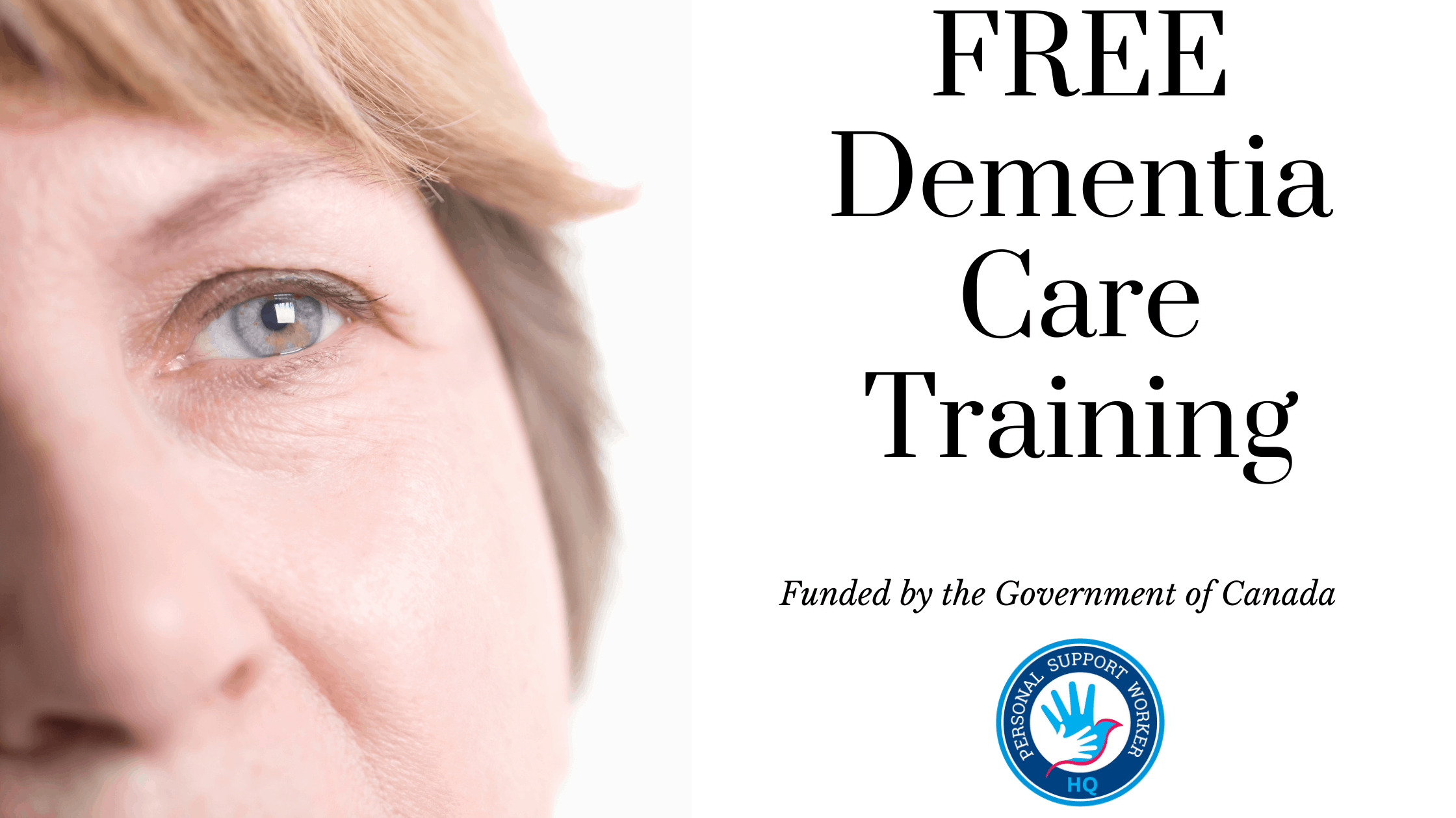 Free dementia care training funded by the Government of Canada