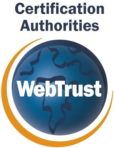 WebTrust Certified Site