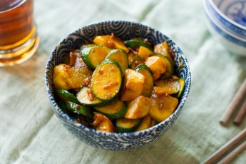 Yellow squash and zucchini with a savory sauce are a perfect holiday side dish