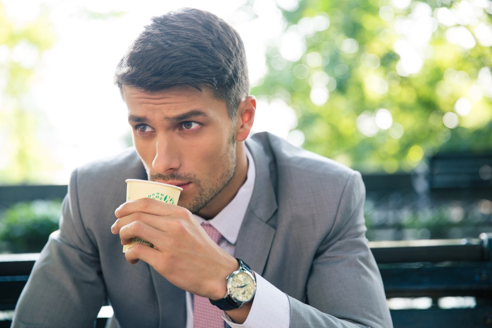 This healthy guy sips coffee to kill cravings and burn fat more efficiently.