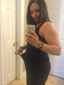 Dr. Mo August 15 2014 at mid-point in completing her Personal Trainer Food Altered wedding weight loss journey.