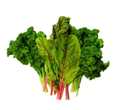 A bunch of lovely fat-burning dark leafy greens.