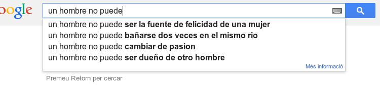 Busquedas no misóginas en Google: perplejo.