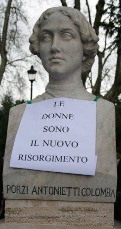 L'unica statua di donna al Gianicolo (oltre Anita)
