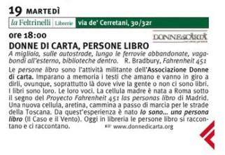 Firenze, le cellule di Roma, Bari, Arezzo alla Libreria Feltrinelli