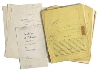 Manoscritto originale di Capote