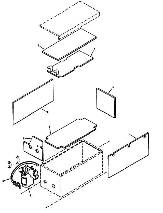 Figure 386. Engine Coolant Heater Battery Box Insulation