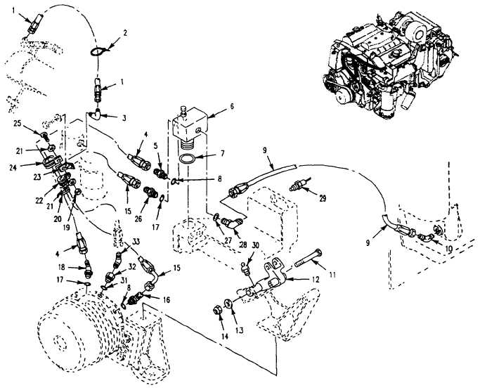 Figure 46. Thermostat, Hoses, and Mounting Hardware