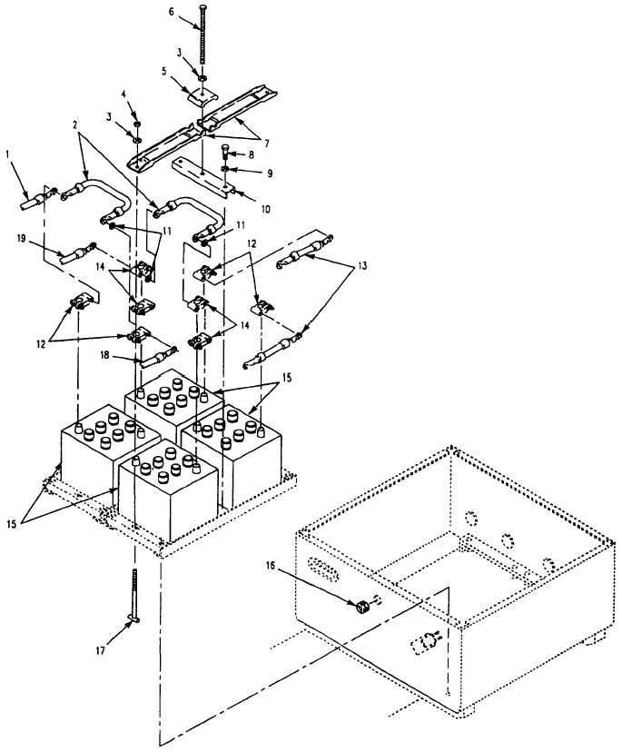 Figure 89. Batteries and Mounting Hardware (M1068A3, M577A3)