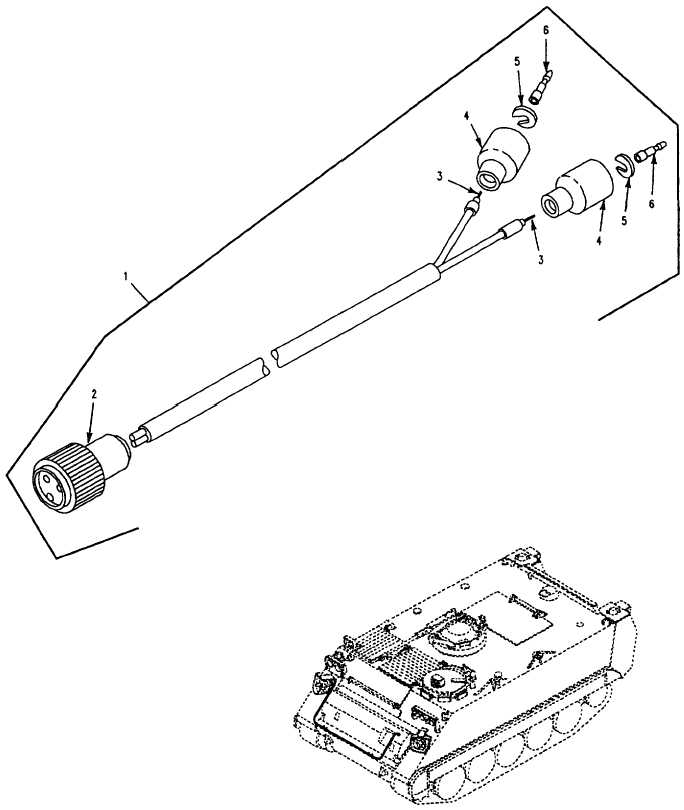 Figure 120. Smoke Grenade Launcher Wiring Harness, Right