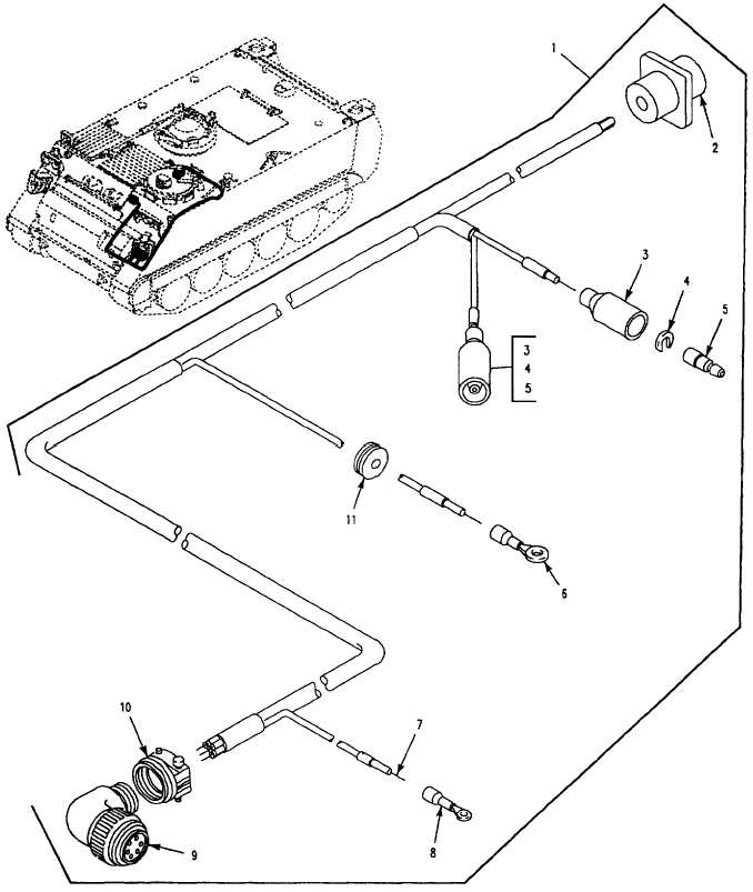 Figure 122. Wiring Harness, Smoke Grenade Launcher