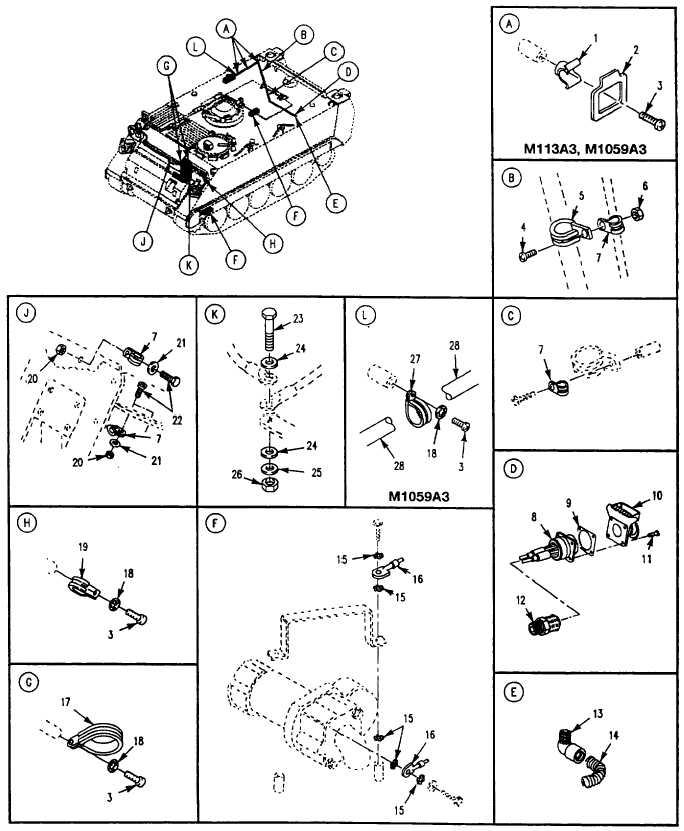 Figure 130. Electrical Wiring Harness Components and