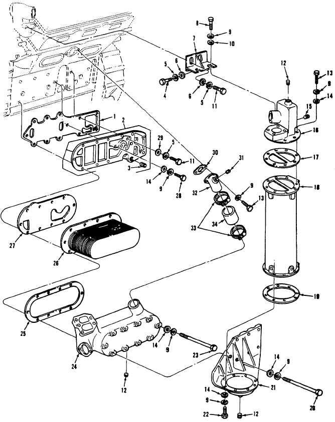 Figure 12. Oil Cooler Assembly
