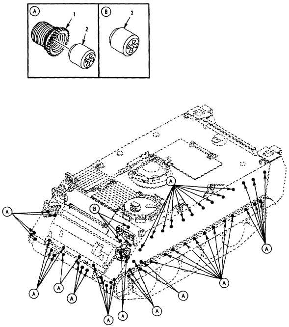 Figure 237. Armor Mounting Provisions (M113A3)