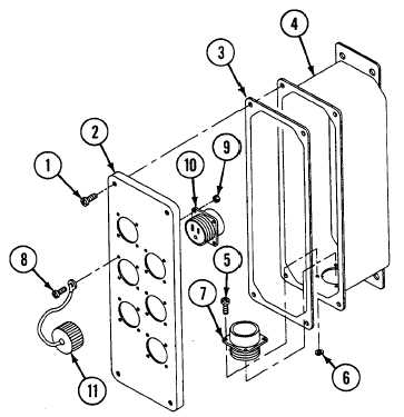 REPAIR CURBSIDE AC POWER EXTENSION BOX A19 (M1068A3 ONLY)
