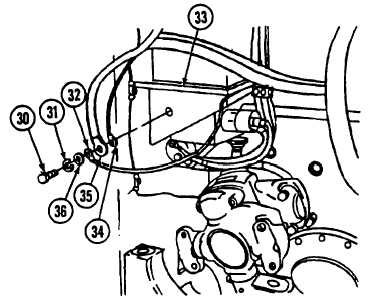 ENGINE DISCONNECT BRACKET TO BULKHEAD WIRING HARNESS