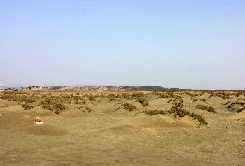 Il deserto dietro il resort